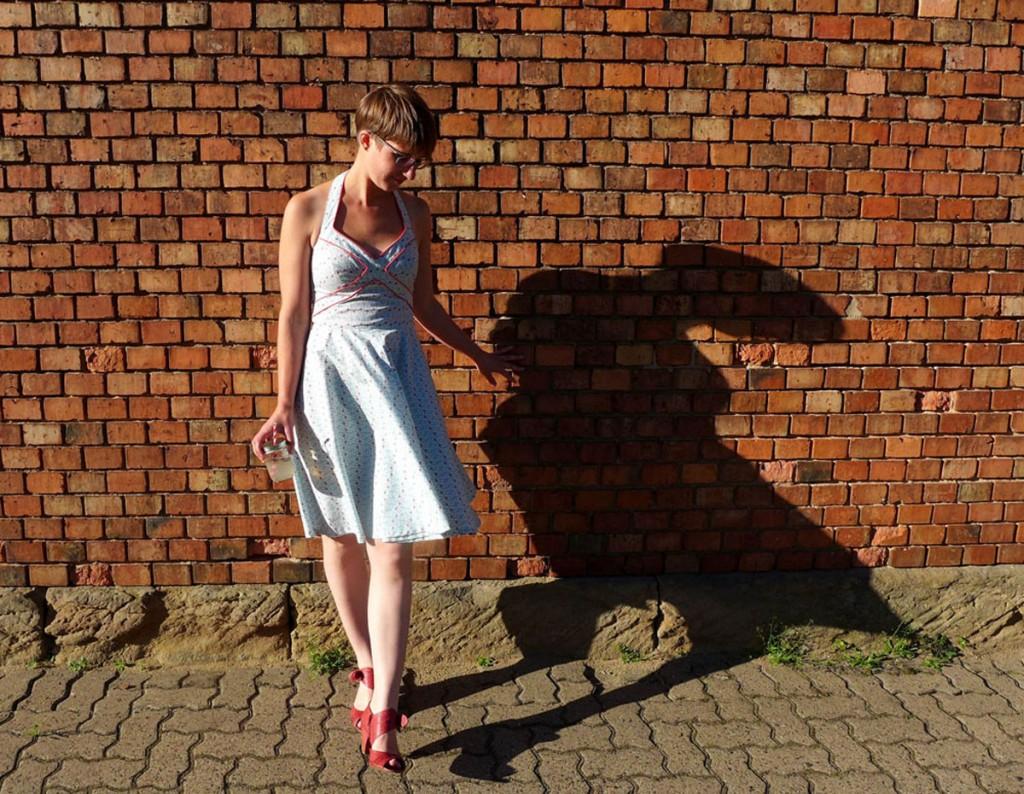 Sommerkleid mit Paspel-Nähanleitung-fertig