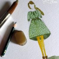 Kleid Mirta der Entwurf