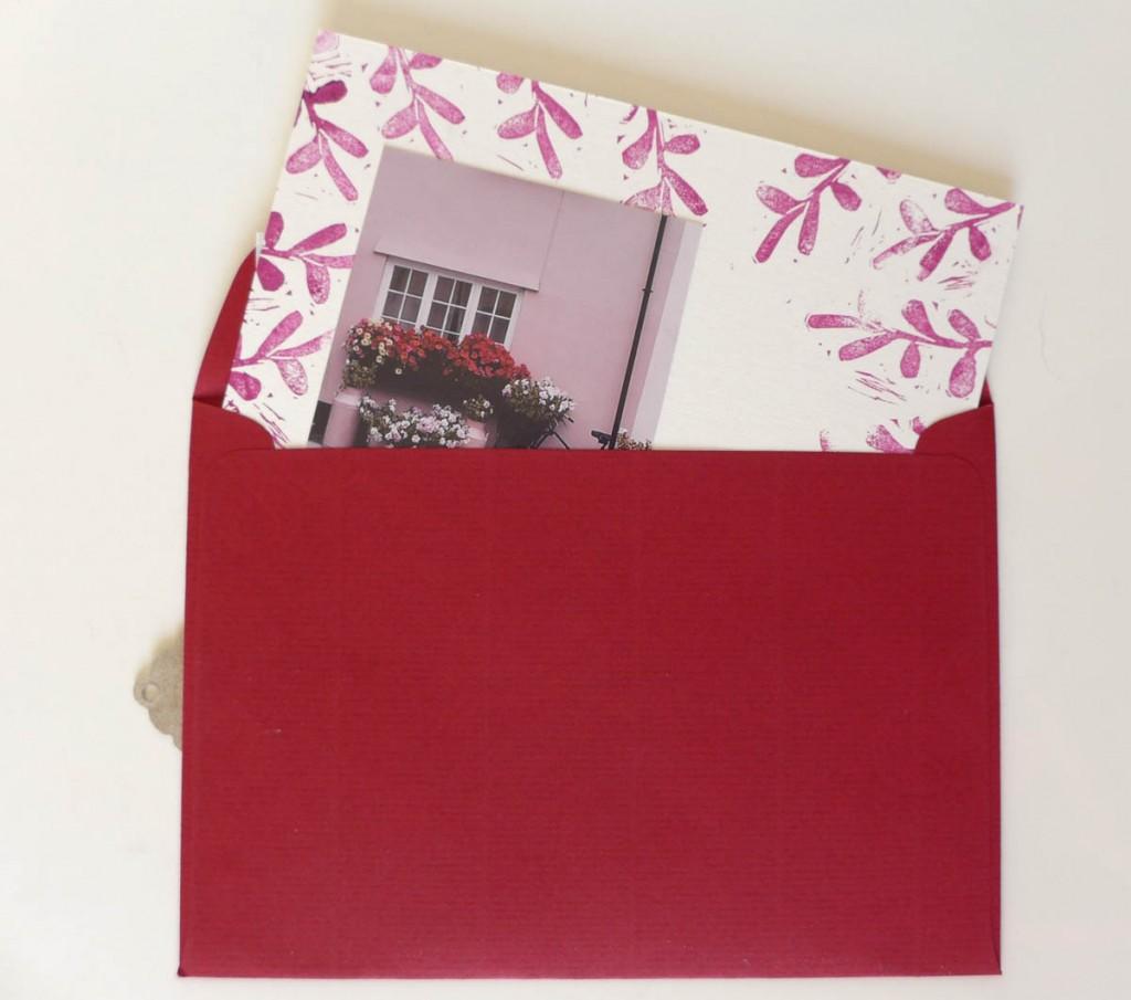 Adventskalender Umschlag und Karte