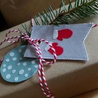 Geschenkanhänger aus Stoff selber nähen