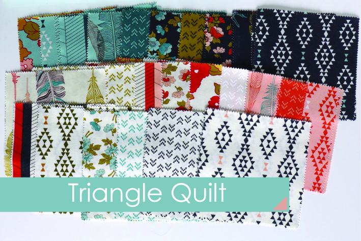 Patchworkdecke Triangle Quilt