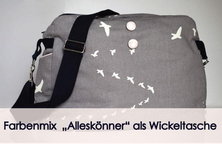 Farbenmix Wickeltasche fertig