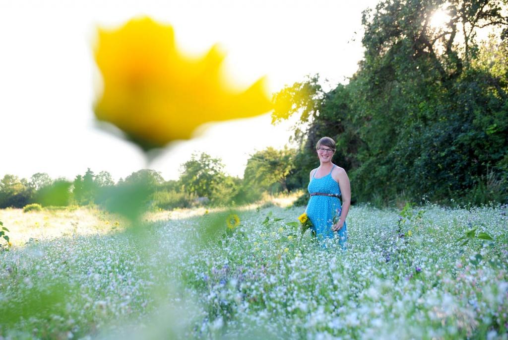 Umstandskleid Sommerkleid im Feld
