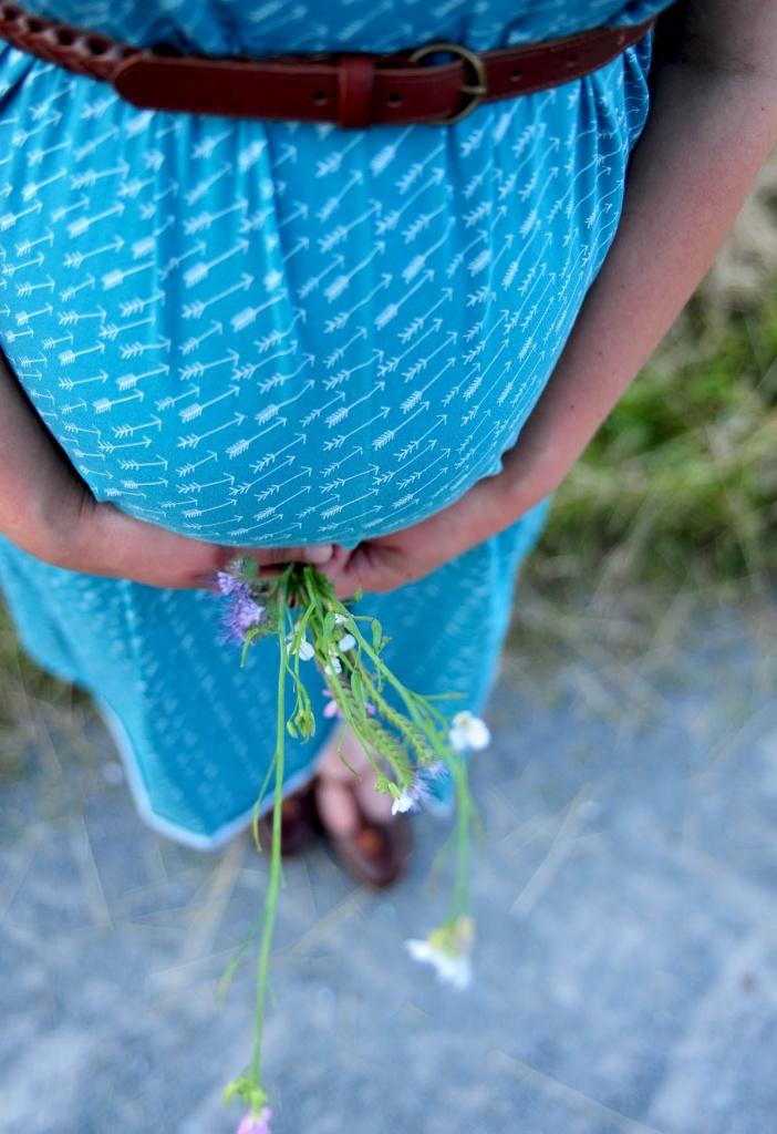 Umstandskleid Sommerkleid Details Gürtel