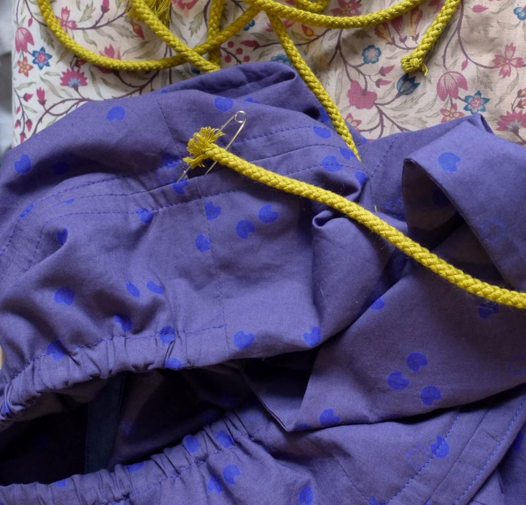 Neckholderkleid Burda Kordel einziehen