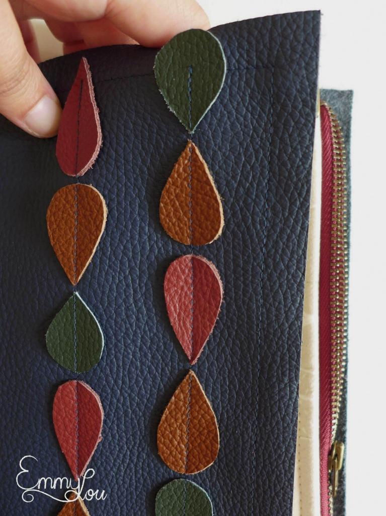 kleine Wickeltasche für unterwegs außen details